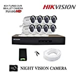 Hikvision 8 CCTV Cameras (Night Vision) & 8Channel DVR Standalone Kit at amazon