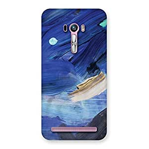 Special Blue Paint Work Print Back Case Cover for Zenfone Selfie