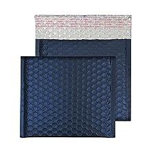 Blake Purely Packaging CD 165 x 165 mm Matt Metallic Padded Bubble Envelopes Peel & Seal (MTN165) Oxford Blue - Pack of 100