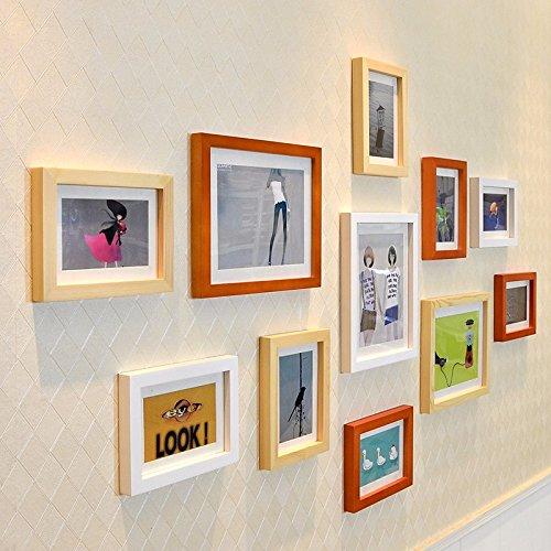 Preisvergleich Produktbild Holz- Bild 11 Wall-Box Eingerichtet Frame Wand Foto Wand Kreative Kombination Hd-011 Schwarz-Weißen Gebäude Kombination Original Hu