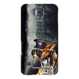 HomeSoGood Dog The Sheriff Black 3D Mobile Case For Samsung S5 ( Back Cover)