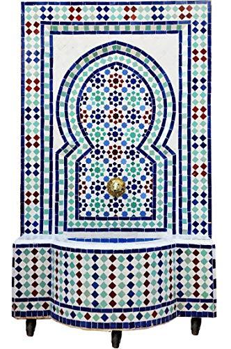 Marokkanischer orientalischer ORIGINAL Mosaik Gartenbrunnen Brunnen Mosaikbrunnen Zimmerbrunnen Muster 3 inklusive Pumpe
