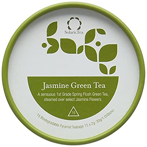 Solaris.Tea Organic Jasmine Green Tea Teabags (Pack of