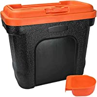 Elito Home & Garden New Pet Food Storage Container Dry Cat Dog Food Bird Seed With Scoop Bin Box (Small, Orange)