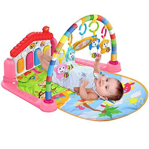 SURREAL SM 3 en 1 Baby Piano Play Gym PlayMat Música y luces - Rosa