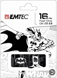 Emtec Noir et Blanc Super-héros 16 Go USB 2.0 Flash Drive (Ecmmd16gm700sp03) (Le Motif Peut Varier – Super Man, Batman, Wonder Femme)