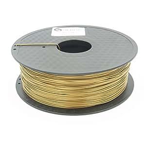 1Kg PLA 1,75mm 3D Printer Filamento Spool 3D Materiale di stampa per stampanti (Oro)