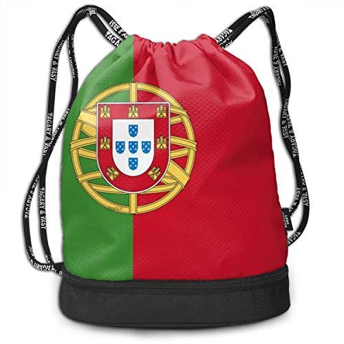 Sporttaschen, Rucksäcke,Portugal Flag Drawstring Sack Swim Sport Cinch Sackpack Large Capacity Beam Backpack, Home Travel Storage Use Gift for Men & Women, Girls Boys -