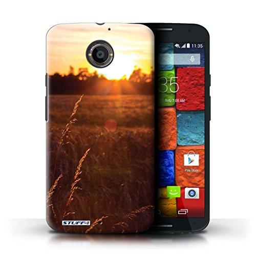 Kobalt® Imprimé Etui / Coque pour Motorola Moto X (2014) / mer conception / Série Coucher du Soleil Champ de maïs
