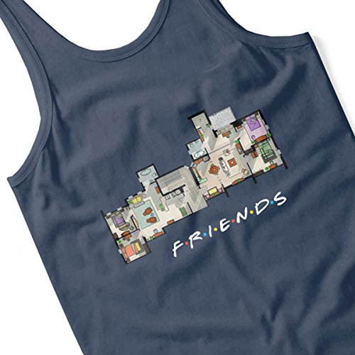 Friends Apartment Floor Plan Men's Vest Navy Blue