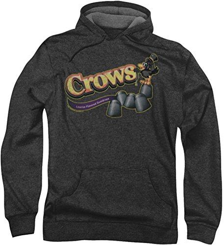 tootsie-roll-crows-felpa-con-cappuccio-da-uomo-grigio-xxx-large
