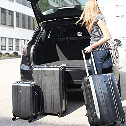 FERG-Hartschalen-Koffer-Trolley-Kofferset-Reisekoffer-Set-Handgepck-55-cm-L-XL-4-Rollen