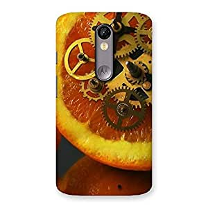 Orange Machines Back Case Cover for Moto X Force