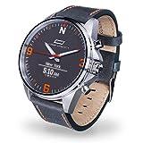 OSKRON 001 Gear Reloj de Pulsera para Hombre con Funciones de Reloj Inteligente, Azul, Talla única