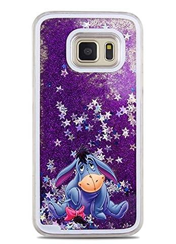 Phone Kandy® Hart Transparent Shell Glitter Stars Sparkle Telefon-Kasten mit Karikatur Hülle Abdeckung Haut tascen (Samsung Galaxy S7 Edge, Eeyore)