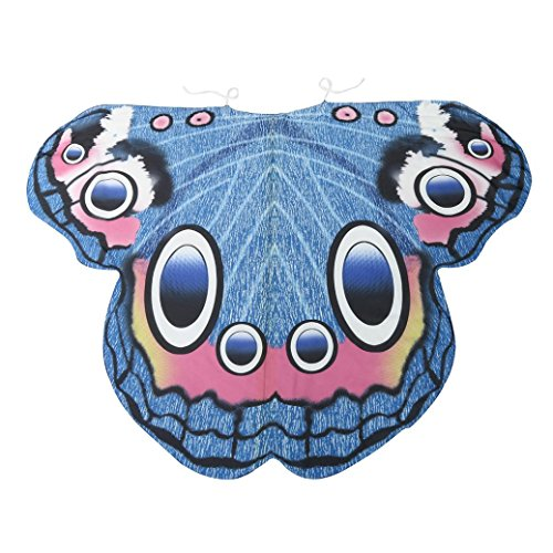 Ularma Schöner Lebensechter Chiffon Schmetterlingsflügel Schal 185*145CM Fee Spiel Cosplay Kostüm (Märchen Einzigartige Kostüme Erwachsene Für)
