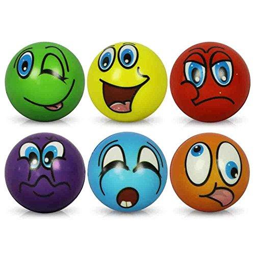 Lot de 6balles visages drôles