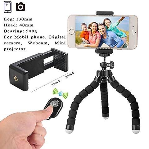 Mini Handy Stativ Flexibel Stativ für iPhone mit Handyhalterung mit