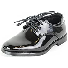 Zapato infantil de vestir elegante zapato de niño de charol negro para Confirmación Comunión Boda - negro, 33
