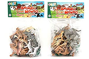 GLOBO, Zoo Animals 17 Piezas 2 Asst. (38100), Multicolor (1)