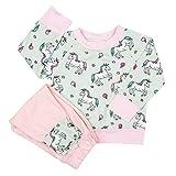 Bébé Fille Survêtement De Bande Dessinée Unicorn Imprimé à Manches Longues Sweatshirt et Long Pantalon pour 6-24 Mois Bébé