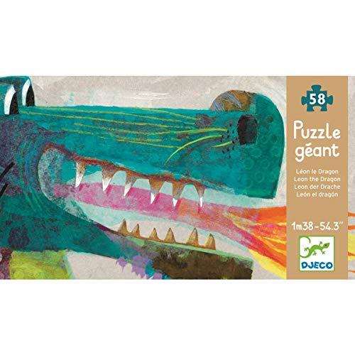 Djeco Djeco Bodenpuzzle 'Leon the dragon' Mehrfarbig