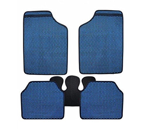 Speedwav Odourless Car Floor/foot Mats 5 Pcs Set Blue-volkswagen Polo Type 1 (2010-2014)