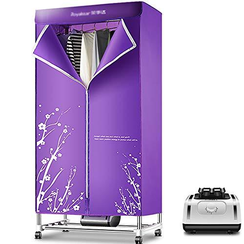 Clothes dryer asciugatrice, asciugatrice portatile in acciaio inox 1200w grande capacità multi-funzione asciugatura guardaroba appendiabiti a risparmio energetico viola ad asciugatura rapida