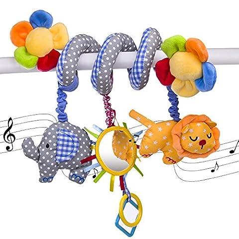 Value Makers Bébé Eléphant Musique Lit Accroché Berceaux Jouet Bébé Enfants Siège Auto Lit D'enfant (passeggini e seggiolini)