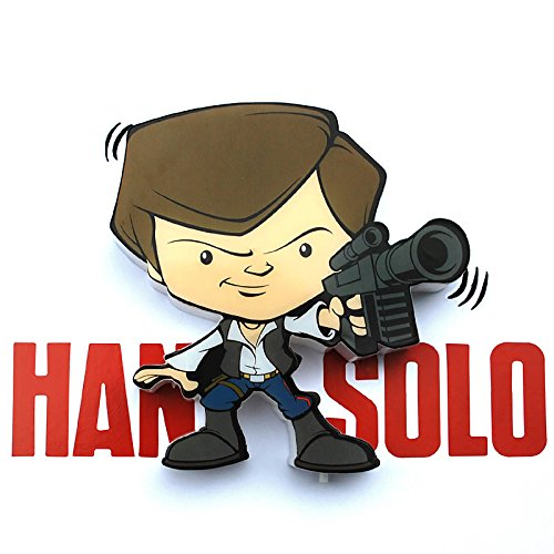 NEU STAR WARS Mini HAN SOLO Wandschmuck 3D Deco Wall LED Nachtlicht Art FX Room Decor