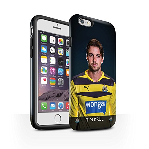 Officiel Newcastle United FC Coque / Brillant Robuste Antichoc Etui pour Apple iPhone 6S / Pack 25pcs Design / NUFC Joueur Football 15/16 Collection Krul
