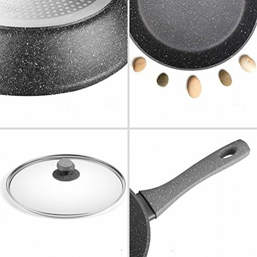 MEZ Non-Stick Pan Wok Pan Pan Frying Pan Does Not Stick to Steak Frying Pan Induction Cooker General Pot,A