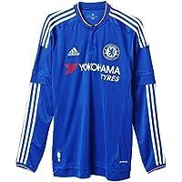 Adidas da uomo a maniche lunghe Maglia FC Replica, Uomo, Langarm Heimtrikot FC Chelsea Replica, Chelsea Blue/White/Power Red,