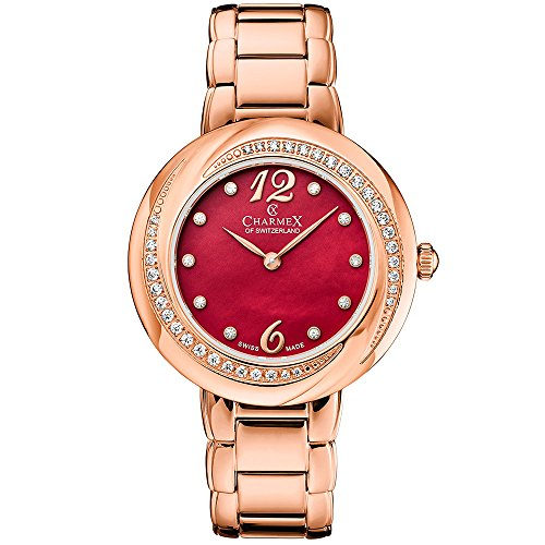 Charmex Women's Deauville 34mm Steel Bracelet & Case Quartz Analog Watch 6367