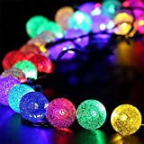 WH Decorativo Catena Luminosa Solare Strisce LED da Esterno - Luminarie Colorate A Globo Impermeabili Fino, 30 LED