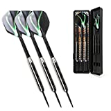 Winline 23 Grams Steel Darts Set Tungsten Look Barrels With 3 More Shafts And 1 Case (23G)