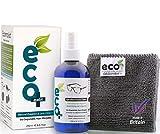 Ecomoist Brillenreiniger 250ml, Linsereiniger und optische reiniger - Feine Mikrofaser Handtuch