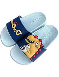 Gray Color Funny Girl Face Cartoon Pictures Summer Slippers For Men