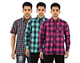 FIVE ON FIVE Men's Casual Shirt Pack of ...