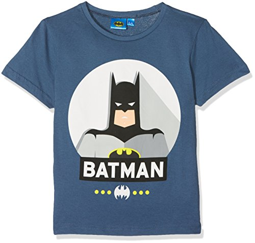 DC Comic Batman in Action, T-Shirt Garçon, Bleu, 6 Ans