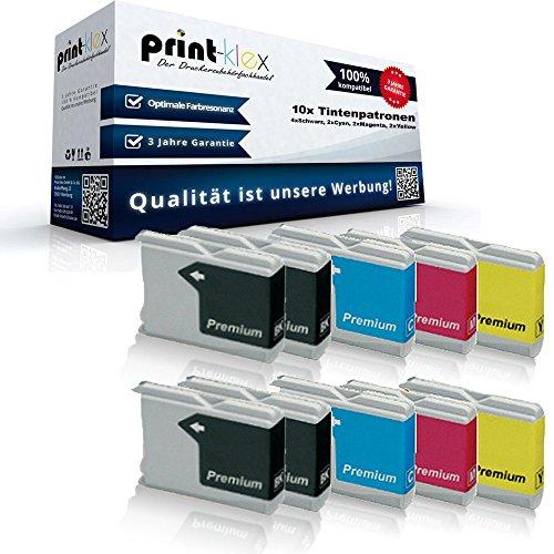 10x Kompatible Tintenpatronen für Brother Fax 1560 Intellifax 1360 1860C 1960C 2480C 2580C Black Cyan Magenta Yellow Sparset -