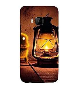 VINTAGE LANTERN WITH AN ANIMATED BIRD 3D Hard Polycarbonate Designer Back Case Cover for HTC One M9 :: HTC M9 :: HTC One Hima