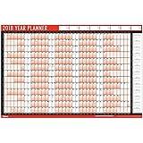 Calendario anual planificador de pared, para 2018, A1, 2 unidades, rotuladores para pizarra, puntos adhesivos