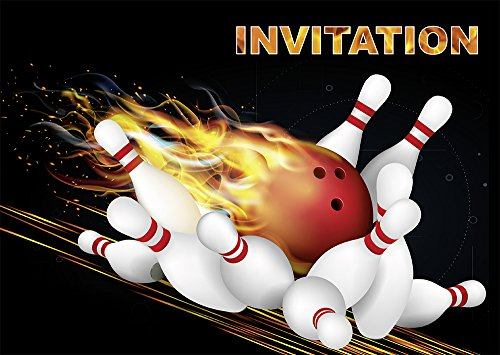"Super 10 Invitations ""BOWLING / QUILLES"" en Français: lot de 10 cartes d  PQ66"