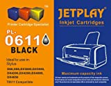 1 x JETPLAY T611 Black Compatible Ink Cartridge for Epson Stylus D68 D88 DX3800 DX3850 DX4200 DX4800 DX4850 Printers Replacement for T0611