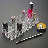 Flyngo 24 Compartment Lipstick, Nail Polish, Makeup & Cosmetic Storage Organizer/Holder Display Stand - Clear...