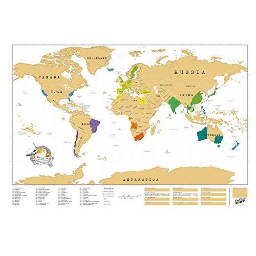 Mapa mundi, mapa mundi rascar,regalo viajero mapa