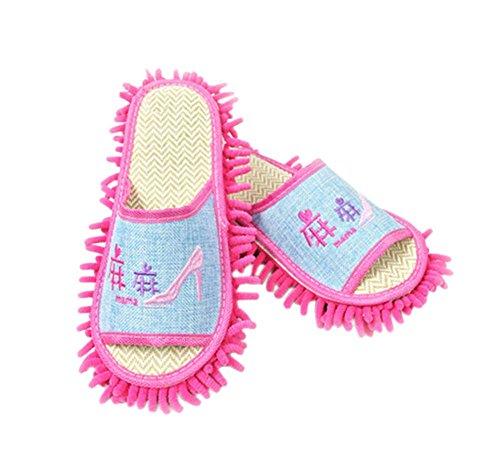 refroidir-chenille-essuyez-pantoufles-amovible-et-lavable-tapis-de-bambou-26cm