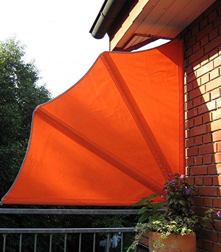 Beauty.Scouts Balkonfächer inkl Schutzhülle und Wandhalterung Sichtschutz orange Stahlrohr...