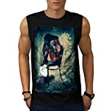 Angel Woman Wing Gothic Girl Men NEW Black White Grey Red Navy S-2XL Sleeveless T-shirt | Wellcoda